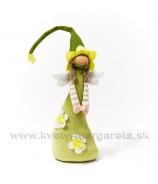 Bábika dievčatko anjelik s visiacimi nohami 40cm