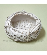 "Nádoba Ovál ""Bird Nest"" biela 24cm"