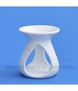 Aromolampa trojramenná biela glazúra 11cm