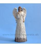 Anjel GUARDIAN plastika krémový 17cm