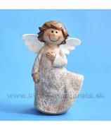 Anjel v nočnej košielke bielo-béžová 7cm