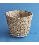 Košík hrantík bielo-naturálny 28cm