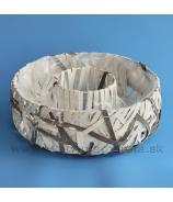 Nádoba disk pásikový výplet bielo-sivý 23 cm