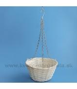 Košík závesný Muškát biely 25cm