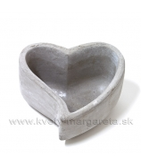 Obal štvorec Romantic kamenina sivá patina 12cm