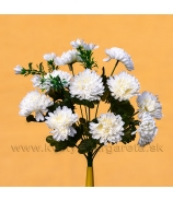 Chryzantémová kytica 10 kvetov s trávou fialová