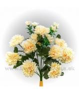 Chryzantémová kytica 10 kvetov s trávou červené