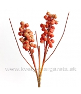 Vetva bobuľa x2 trsy oranžová 70cm