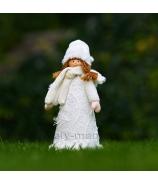 Dievčatko plyšový Anjelik svietiaci 70cm biely