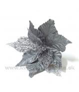Poinsettia Vianočná ruža Mikroplyš a skeletové listy 20cm