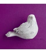 Vtáčik vyrezávané drevo biely 12cm