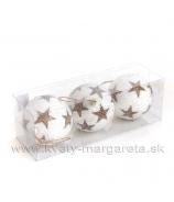 Vianočné gule OUTLINE STAR 10cm sada 3 kusy