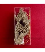 Rozprávkový Jeleň závesná ozdoba 14cm zlatý 12 kusov