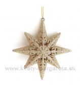 Hviezda Polárka závesná ozdoba 13cm zlatá