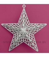 Hviezda závesná sieťové lúče strieborná 18cm