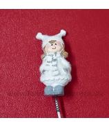 Napichovačka dievčatko v zimnom oblečení 5cm/30cm