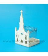Kostolík priečelie lampa na sviečku 20cm - Skvelá cena