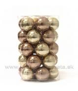 Sklenené guľky 4.5cm 36 kusov lesk-mat Azúrová