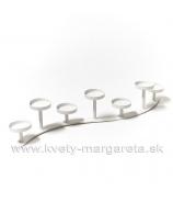 Svietnik VLNA x7 kovový biely 60cm