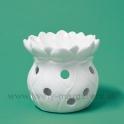 Aromolampa kvet biely porcelán 10cm