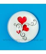 Valentínka Dvaja v balóne vypuklá magnetka šošovka 3.5cm