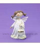 Anjelik dievčatko so srdcom Z lásky v rukách 8cm
