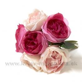 Kytica z Ruží Herkules svetlorúžová s malinovou mix 30cm