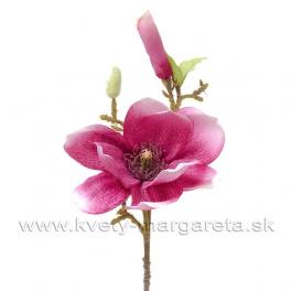 Vetva Magnólia s pukmi malinovo rúžová 35cm