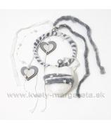 Záves filcové srdce s obručou 40cm