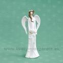 Anjel Anemónia so srdcom a vrkočom biela 17 cm
