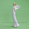 Anjel Flying Angels so žltými ružami za chrbtom 24cm