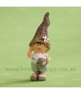 Chlapček čiapka Kornútok s konvičkou 9cm