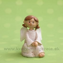 Anjel Medulienka sediaca 7.5 cm biela
