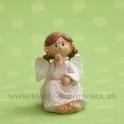 Anjel Medulienka sediaca-podopretá 7.5 cm biela