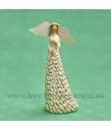 Anjel Fazuľka so srdcom na hrudi 17cm krémová