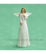 Anjel drevorezba spojené ruky 13cm