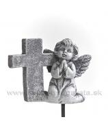 Anjel kľačiaci s krížom napichovačka 7cm