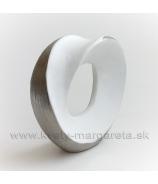 SUPER CENA - 50% Prestenec nekonečná slučka dekoratívna keramická bielo-strieborná 21cm