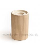 Keramika Letokruhy - svietnik valec pieskový 15cm