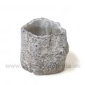 Cementový obal - pník sivý 12cm