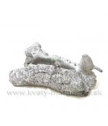 Cementový obal - kmeň s vtáčikom 28cm