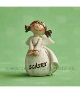 Anjelik copatý v rozpakoch Z lásky krémový 6cm