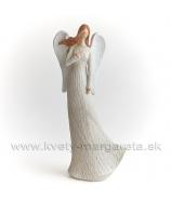 Anjel drevorezba 23 cm