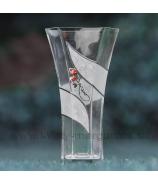 Váza kovová brošňa 34cm