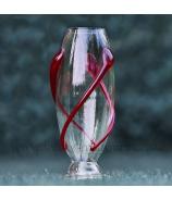 Váza cigara ovinutá sklenenou špirálou 41 cm - AKCIA