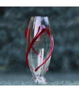 Váza cigara ovinutá sklenenou špirálou 34 cm - AKCIA