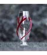 Váza cigara ovinutá sklenenou špirálou 32 cm - AKCIA