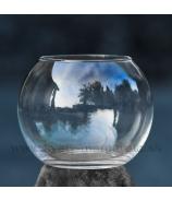 Váza guľa z číreho skla 17 cm