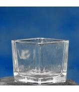 Nádoba štvorec číre masívne sklo 6x6x6 cm