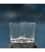 Nádoba štvorec číre masívne sklo 10 cm